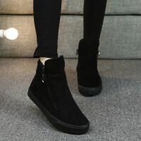 棉鞋女冬季2018新款韩版百搭平底棉靴学生鞋子短靴加绒保暖雪地靴