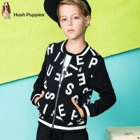 【3折价:83.7元】暇步士童装男童秋装新款上衣中大童外套儿童时尚字母棒球服