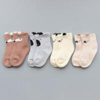 婴儿袜子秋冬纯棉1岁0-3新生儿小孩男女童宝宝冬季加厚保暖长筒袜