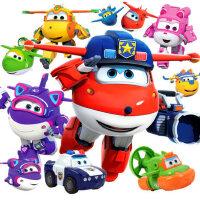 奥迪双钻超级飞侠全套大号乐迪小爱雪儿童变形机器人男孩玩具套装