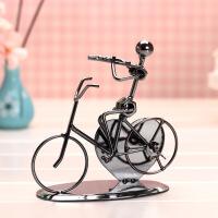?自行车模型音乐铁人乐队乐器创意铁艺工艺品摆件男女朋友生日礼物 颜色混发170*85*160MM