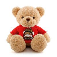 泰迪熊抱抱熊小熊布娃娃毛绒玩具大号熊猫公仔送女生女友生日礼物