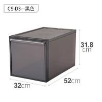 like-it日本进口塑料抽屉式收纳箱可叠加衣柜收纳盒整理箱储物箱 单个装