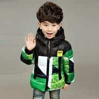 男童冬装棉衣2儿童小童中长款加厚3宝宝加厚棉袄4韩版5岁连帽