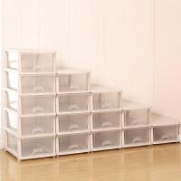 可自由叠加单层塑料抽屉式内衣收纳盒衣物收纳箱衣柜整理箱储物箱