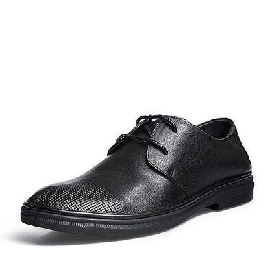 Belle/百丽2018夏新品专柜同款牛皮男商务休闲鞋5RP01BM8