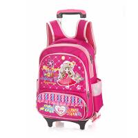 韩版可拆卸儿童拉杆书包女小学生女双肩包3-6年级2轮行李箱书包男