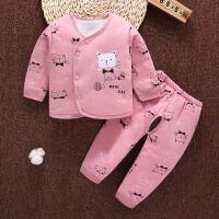 初生婴儿秋冬0-1岁保暖套装宝宝新生儿加厚夹棉衣服