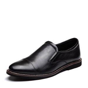 Tata/他她2018夏专柜同款牛皮商务简约方跟男皮鞋25J21BM8
