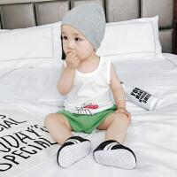 婴儿背心夏季新生儿衣服兔子印花吊带无袖薄款纯棉宝宝小背心