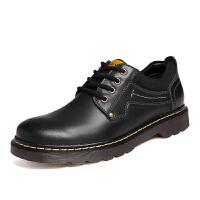 工装鞋男鞋子马丁鞋男士休闲皮鞋大头低帮加绒棉靴