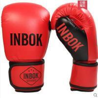 手套柔软格斗搏击家用沙袋手套拳击手套成人男女健身散打拳套训练泰拳加厚