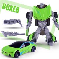 新款合金变形机器人回力汽车人儿童变型模型玩具 幻拳