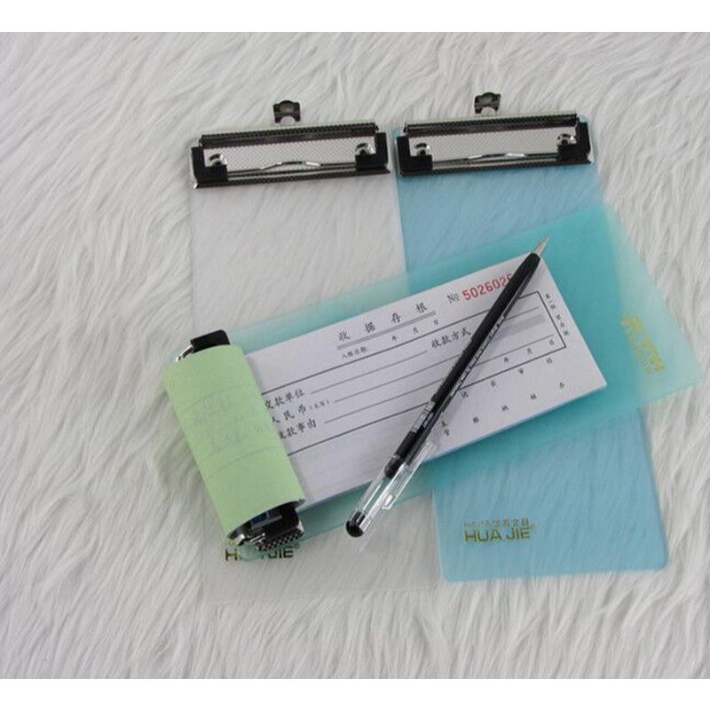 华杰写字板 H111B强力板夹加厚PP塑料A6票据板夹 全场满50包邮