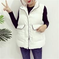 秋冬季大码韩版学生加厚面包服背心羽绒棉马夹短款坎肩马甲女外套