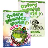 牛津自然拼读世界3册 Oxford Phonics World 学生用书+练习册光盘 自然拼读 phonics教材 小