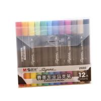 晨光文具 12色马克笔 赛美水溶性美术双头马克笔APM25203