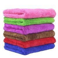 抹布家务清洁吸水加厚厨房保洁擦桌子杯子家用 七种颜色各一条( 共7条)