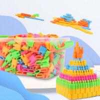 子弹头积木塑料拼插拼装益智宝宝男女孩3-6-7-8周岁批发儿童玩具