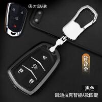 凯迪拉克xts钥匙包CTS18款XT5/ATS-L17款CT6金属真皮夜光钥匙套扣