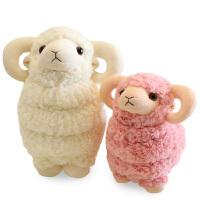 可爱小绵羊公仔小羊玩偶羊驼毛绒玩具娃娃生日礼物
