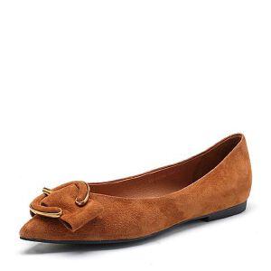 Belle/百丽2018春新品专柜同款羊绒皮浅口尖头女单鞋S3S2DAQ8