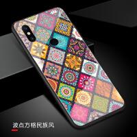 小米mix3手机壳套钢化玻璃镜面mix2s硅胶Mix2陶瓷尊享版男女Max3max2个性中国风复古方 【玻璃壳】小米m