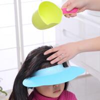 宝宝洗头帽婴儿洗澡防水护耳小孩洗发帽儿童可调节加大婴儿浴帽子