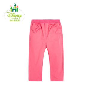 迪士尼Disney女童裤子春秋女宝宝休闲外出裤子可开裆纯棉171K747