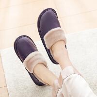 棉拖鞋女冬季包跟居家室内家用2018新款家居冬天保暖男士情侣