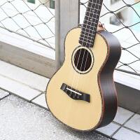云杉木尤克里里23寸初学者单板小吉他入门级自学乐器学生a175 23寸单板尤克+