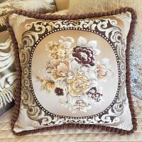 皮沙发抱枕靠垫套含芯大号长方形客厅欧式家用可拆洗棉