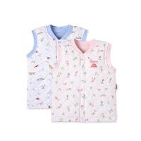 男女宝宝绗缝夹棉按扣背心儿童马甲外套