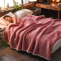 毛毯加厚冬季珊瑚绒毯子双人法兰绒被子保暖床单单件双层单人