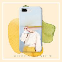 woods北欧油画女孩小众6s手机壳ip6plus i7软壳 iphone6/ iphone6s