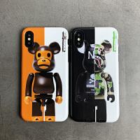 潮迷彩绿熊s/xr苹果手机壳7/8plus卡通情侣6sp防摔硅胶max