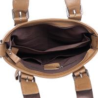 新款男包潮男手提包横款真皮男士公文包单肩包斜挎背包868-2