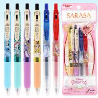 日本ZEBRA斑马JJ15中性笔迪士尼公主系列限定款JJZ15BM-DS2学生用卡通可爱按动彩色水笔0.5mm