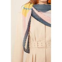 【5/26-6/1 一口价:89元】 Lily春女装时髦撞色拼色几何图形压褶方巾119110AZ407