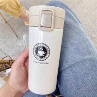 日式保温杯创意办公杯男女士便携学生直身水杯子不锈钢车载咖啡杯