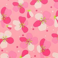 出口日本樱花拼图泡沫地垫大号拼接地板爬行垫卧室榻榻米环保地垫 深粉色 樱花