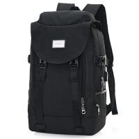双肩包男士运动背包时尚潮流韩版学生书包电脑包休闲大容量旅行包百搭休闲大学生电脑包 黑色