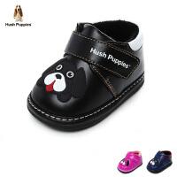 暇步士Hush Puppies童鞋17冬季婴幼童宝宝鞋短绒羊皮学步鞋保暖婴儿鞋 (0-3岁可选) DP9165