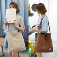 大包女2018新款韩版帆布包女单肩包学生文艺斜跨布包大容量购物袋