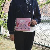韩国韩版信封包可爱卡通软妹原宿风女包斜挎包潮单肩包手拿包