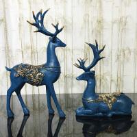 美式客厅酒柜装饰品摆件欧式工艺家居饰品树脂鹿摆设乔迁新居礼品