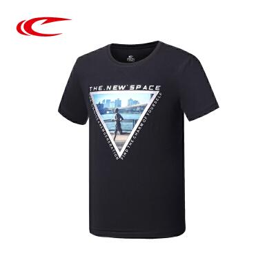 赛琪T恤 男子2018夏季新品圆领吸汗透气时尚百搭运动T恤116439
