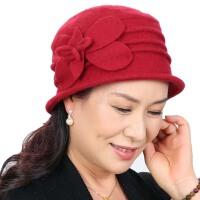 秋冬天礼帽 婆婆帽 女式冬季老人帽   中老年帽子  中年妈妈帽
