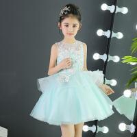 儿童礼服女童生日公主裙花童婚纱蓬蓬裙短款主持人钢琴演出服走秀