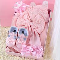 初生婴儿衣服夏季 新生儿礼盒公主裙套装 宝宝满月周岁*